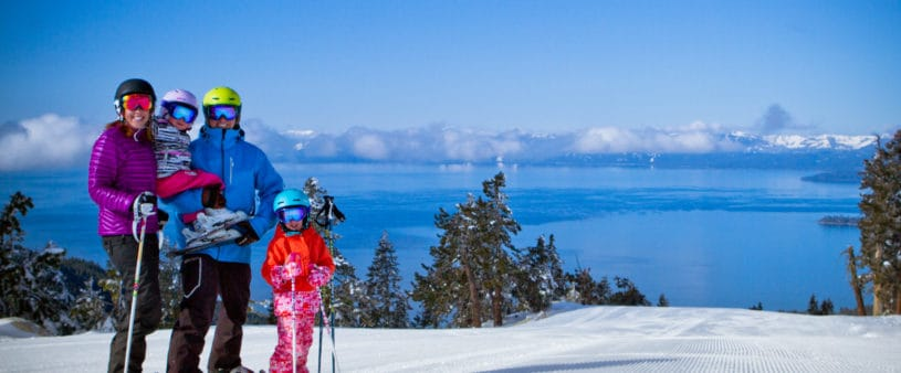 Family ski trip in Lake Tahoe