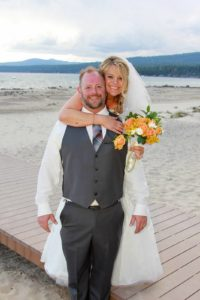 Lake Tahoe beach wedding at Franciscan Lakeside Lodge
